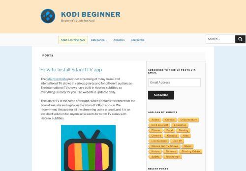 Kodi Beginner - Anfängerleitfaden für Kodi