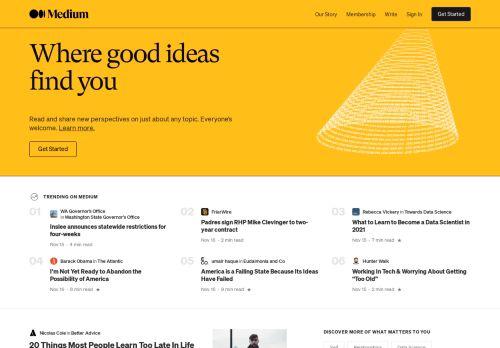 Medium – Where good ideas find you.