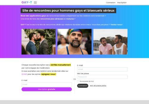 Homosexuell und Bisexuell Dating-Site für ernsthafte Jungs - GAY-T