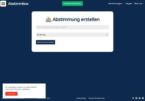 Online Abstimmung erstellen - Abstimmbox