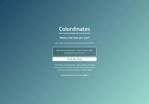 Colordinates | Wo zum Teufel bist du?