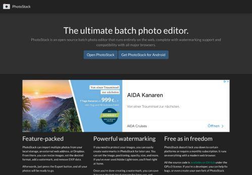 PhotoStack - Batch-Fotoeditor, Hinzufügen von Wasserzeichen zu Fotos und mehr