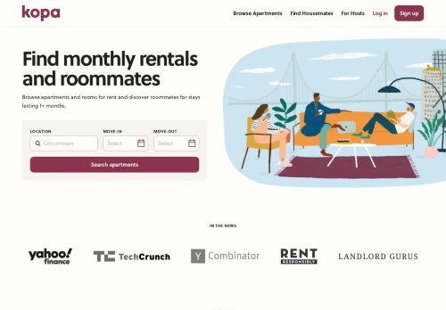Kopa: Monthly Rentals