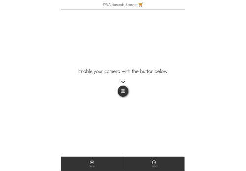 PWA Barcode Scanner 🛒