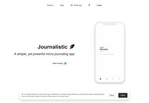 Journalistic – Micro Journaling