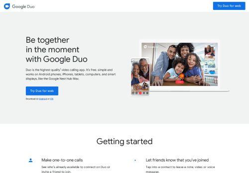 Google Duo - Kostenlose hochwertige Videoanruf-App