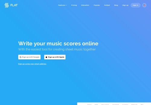 Online-Software für kollaborative Musiknotation   Flat.io