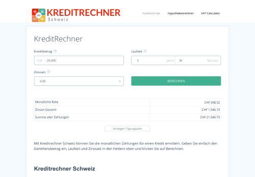 Kreditrechner Schweiz