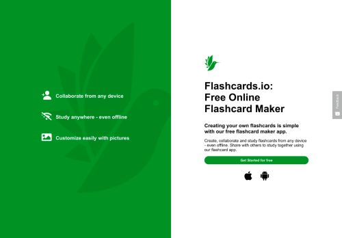 Kostenlose Online Flashcard Maker & Flashcard App   Flashcards.io
