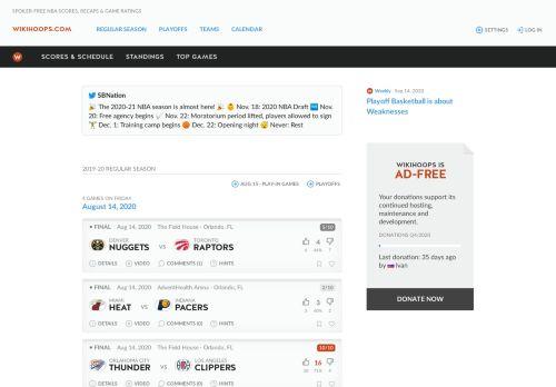 Spoiler-Free NBA Scores, Recaps