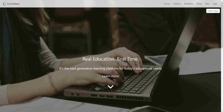 Coursables : Online-Klassenzimmer-Plattform
