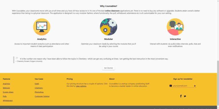 Coursables : Online Classroom Platform