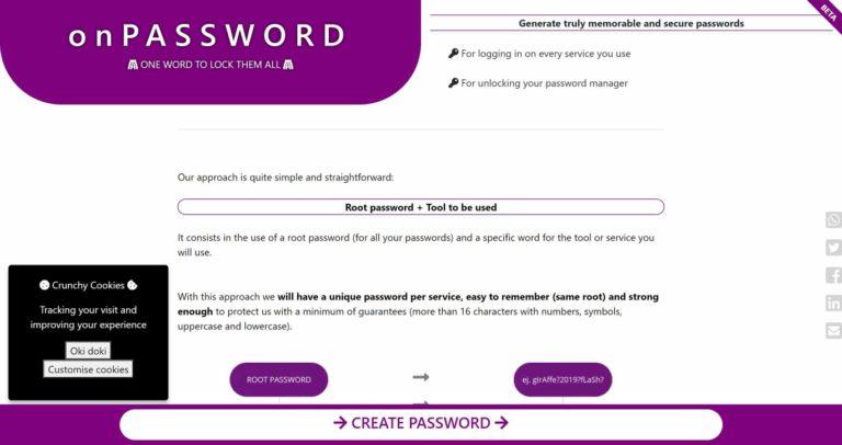 Passwortgenerator - unvergesslich und sicher   onPASSWORD One