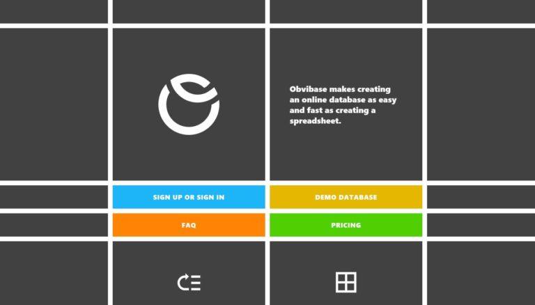 Obvibase: ein ablenkungsfreier Online-Datenbankeditor