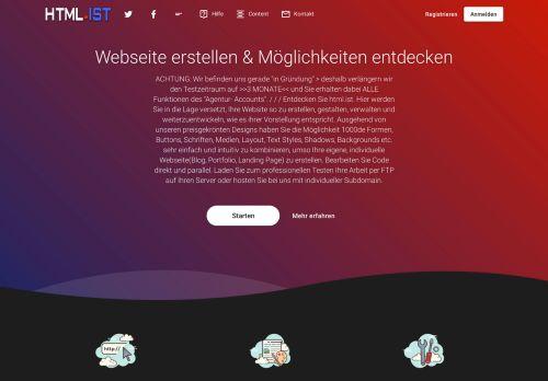 HTML.ist Website erstellen
